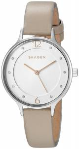 [スカーゲン]Skagen  'Anita' Quartz Stainless Steel and Leather Casual Watch, SKW2648