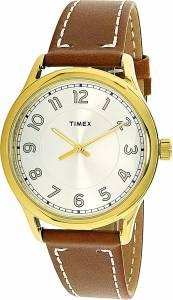 [タイメックス]Timex  Brown Leather Analog Quartz Fashion Watch TW2R23000 レディース