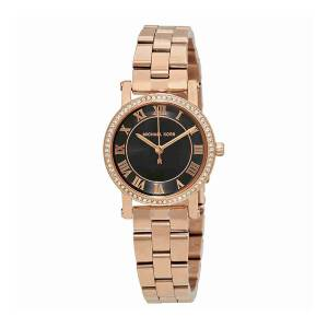 [マイケル・コース]Michael Kors 腕時計 Norie Black Dial Rose GoldTone Watch MK3599