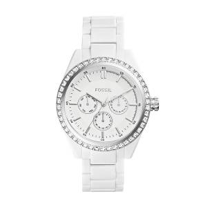 [フォッシル]Fossil 腕時計 Carissa Multifunction White Acetate Watch Bq1194 BQ1194