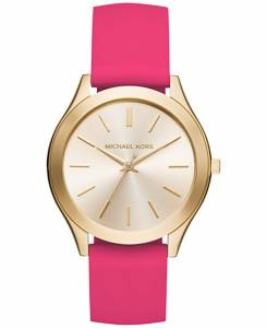 [マイケル・コース]Michael Kors  Slim Runway Sporty Pink Silicone Strap Watch MK2510