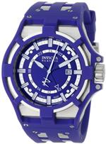 インヴィクタ 時計 Invicta Mens 0626 Reserve Collection Akula GMT Blue Dial Blue Polyurethane Watch