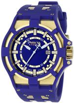 インヴィクタ 時計 Invicta Mens 0629 Reserve Collection Akula GMT Blue Dial Blue Polyurethane Watch