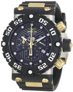 インヴィクタ 時計 Invicta Mens 0654 Subaqua Collection Nitro Chronograph Black Polyurethane Watch