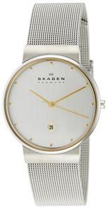 スカーゲン 時計 Skagen Mens 355LGSC Two-Tone Mesh Band Watch<img class='new_mark_img2' src='https://img.shop-pro.jp/img/new/icons36.gif' style='border:none;display:inline;margin:0px;padding:0px;width:auto;' />