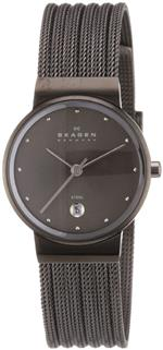 スカーゲン 時計 Skagen Womens 355SMM1 White Label Analog Display Analog Quartz Grey Watch