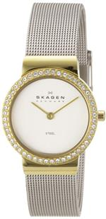 スカーゲン 時計 Skagen Gold amp Silver Mesh Chrome Dial Womens watch #644SGS<img class='new_mark_img2' src='https://img.shop-pro.jp/img/new/icons19.gif' style='border:none;display:inline;margin:0px;padding:0px;width:auto;' />