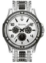 ブローバ 時計 Men's Bulova Crystal Date & Day Watch 98C005