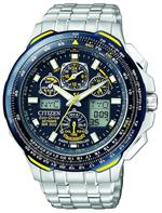 シチズン 時計 Citizen Eco Drive Blue Angels Skyhawk AT Mens Watch - JY0040-59L