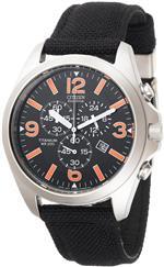 シチズン 時計 Citizen Mens AT0660-05E Eco-Drive 200 Meter Chronograph Sport Strap Watch