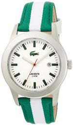 ラコステ 時計 Lacoste Advantage White Dial Green and White Strap Mens Watch 2010501