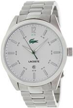 ラコステ 時計 Lacoste 2010579 Mens White and Silver Montreal Watch