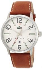 ラコステ 時計 Lacoste Mens 2010498 Barcelona Brown/White Watch
