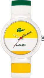 ラコステ 時計 Lacoste Womens Goa 2010530 White Silicone Quartz Watch with White Dial