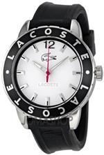 ラコステ 時計 Lacoste Rio White Dial Black Rubber Ladies Watch 2000662