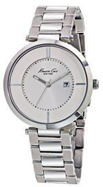 ケネスコール 時計 Kenneth Cole New York Womens KC4708 Analog Silver Dial Watch