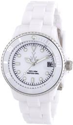 トイウォッチ 時計 Toy Watch Mens FLS08WH Mini Plasteramic White Dial and Bracelet Watch