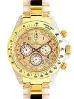 トイウォッチ 時計 Toywatch Chronograph Gold Heavy Metal Watch. 16218-GD