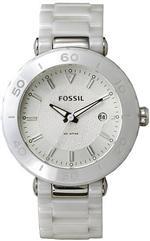 フォッシル 時計 Women's White Fossil Ceramic Watch CE1030
