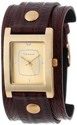 ベスタル 時計 Vestal Womens  EA013 Electra Gold-Tone Brown Leather Watch