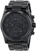 ベスタル 時計 Vestal Mens DEV004 De Novo Matte Black Retrograde Chronograph Watch