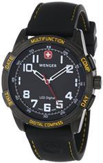 ウェンガー 時計 Wenger Mens 70434 LED Nomad Compass Patagonian Expedition Race Watch