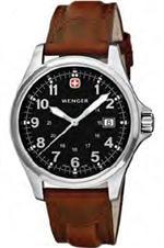 ウェンガー 時計 Men's Swiss Wenger Terragraph Leather Watch 72784