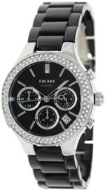 ダナキャラン 時計 DKNY Ceramic Glitz Chronograph Black Dial Womens watch #NY4983