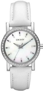 ダナキャラン 時計 Women's DKNY Crystallized White Leather Watch NY8015