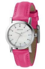 ダナキャラン 時計 Women's DKNY Pink Leather MOP Dial Watch NY4795