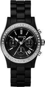 ダナキャラン 時計 Women's DKNY Black Plastic Chronograph Watch NY8166