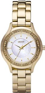 <img class='new_mark_img1' src='https://img.shop-pro.jp/img/new/icons23.gif' style='border:none;display:inline;margin:0px;padding:0px;width:auto;' />ダナキャラン 時計 DKNY NY8135 Ladies Essentials Glitz Gold Ip Watch