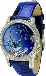 エド・ハーディー 時計 Women's Ed Hardy Blue Elizabeth Watch EL-BL