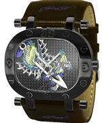エド・ハーディー 時計 Men's Ed Hardy Grinder Cuff Watch GR-DR