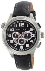 ノーティカ 時計 Nautica Mens N25012G OCN 46 Black Dial Watch