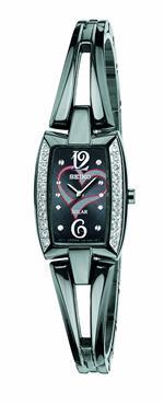 セイコー 時計 Seiko Womens SUP089 Stainless Steel Analog with Black Dial Watch