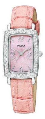 バルサー 時計 Pulsar PTC499 Pink Leather Strap Ladies Watch New