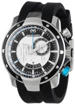 テクノマリーン 時計 TechnoMarine Mens 609026 UF6 GMT Silver Dial Watch
