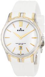 エドックス 時計 Edox Womens 26024 357J BID Grand Ocean Yellow Gold Ion-Plating Date Watch