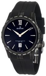 エドックス 時計 Edox Womens 26024 357N NIN Grand Ocean Black Ion-Plating Case Rubber Watch
