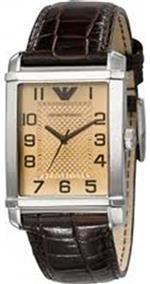 エンポリオアルマーニ 時計 Emporio Armani Mens AR0489 Classic Taupe Textured Dial Watch