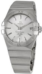 オメガ 時計 Omega Mens 123.10.38.21.02.001 Constellation Silver Dial Watch