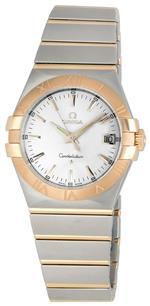オメガ 時計 Omega Mens 123.20.35.60.02.001 Constellation Silver Dial Watch