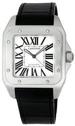 カルティエ 時計 Cartier Mens W20073X8-Blue Santos 100 XL Automatic Watch