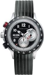 ハミルトン 時計 Hamilton Mens H71726333 Khaki Tachymiler Black Dial Watch