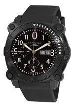ハミルトン 時計 Hamilton Mens H78686333 Khaki Navy BelowZero Black Chronograph Dial Watch