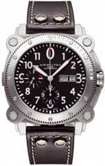 ハミルトン 時計 Hamilton Khaki BeLOWZERO Auto Chrono Black Dial Mens Watch #H78616733