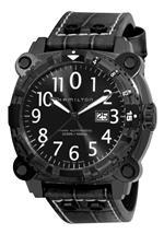 ハミルトン 時計 Hamilton Mens H78575393 Khaki Navy BelowZero Black Dial Watch