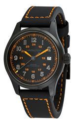 ハミルトン 時計 Hamilton Mens H70585737 Khaki Field Black Day Date Dial Watch