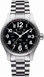 <img class='new_mark_img1' src='https://img.shop-pro.jp/img/new/icons26.gif' style='border:none;display:inline;margin:0px;padding:0px;width:auto;' />ハミルトン 時計 Hamilton Mens H70615133 Khaki Fieldicer Black Dial Watch